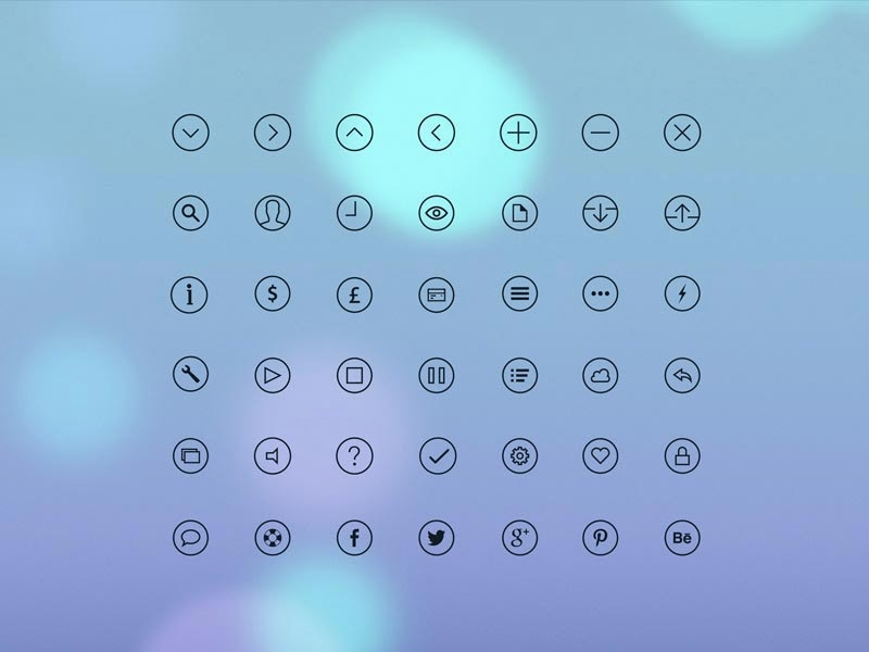 iOS 7 Glyph Icons