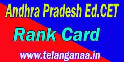 Andhra Pradesh AP Ed.Cet Rank Card