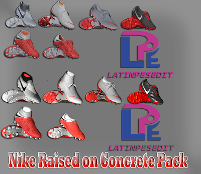 PES 2018 / PES 2017 Nike Raised on Concrete Pack 2018 by LPE09