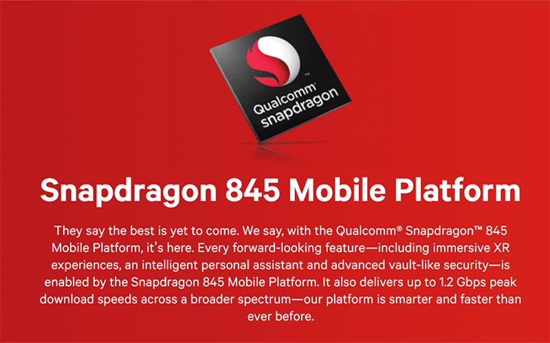 Snapdragon 845 full specs and features revealed!