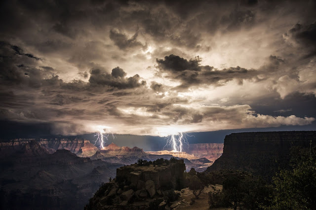 Lightning over Grand Canyon