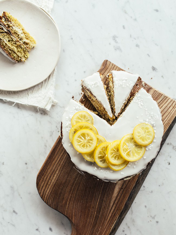 Lemony zucchini cake with earl grey buttercream recipe by Top With Cinnamon