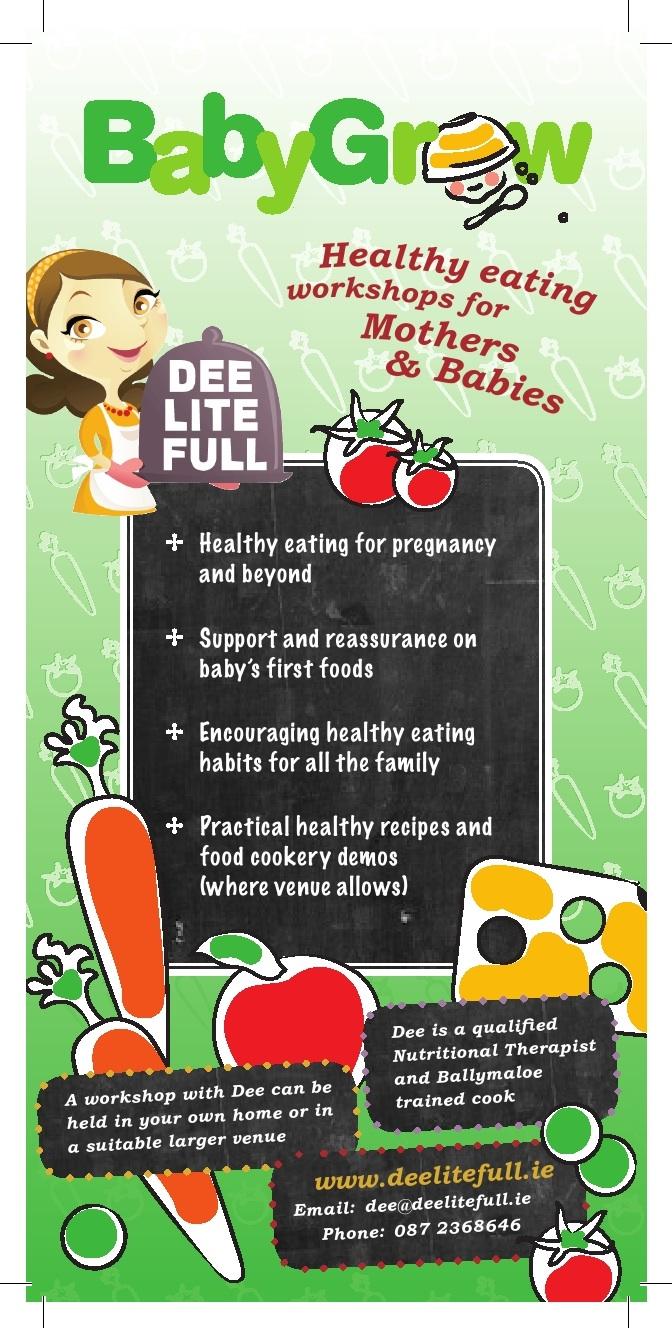 deelitefull: Mother and baby healthy eating workshops
