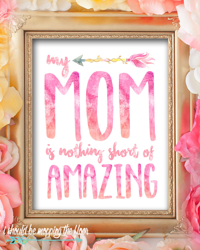 These Eight Watercolor Mother's Day Printables are perfect for gifting or decorating. These sweet 8x10 prints sure to bring a smile to any mom's face!