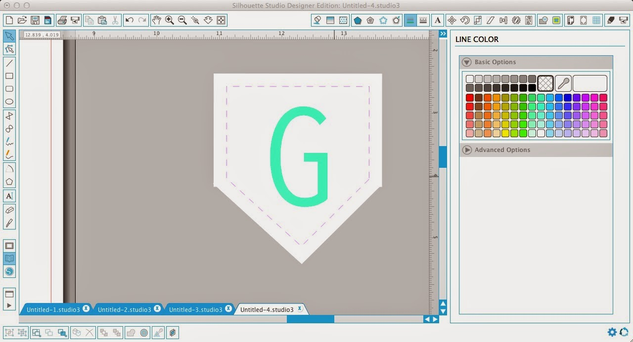 Faux stitching, Silhouette Studio, Silhouette tutorial, internal offset, perforated line