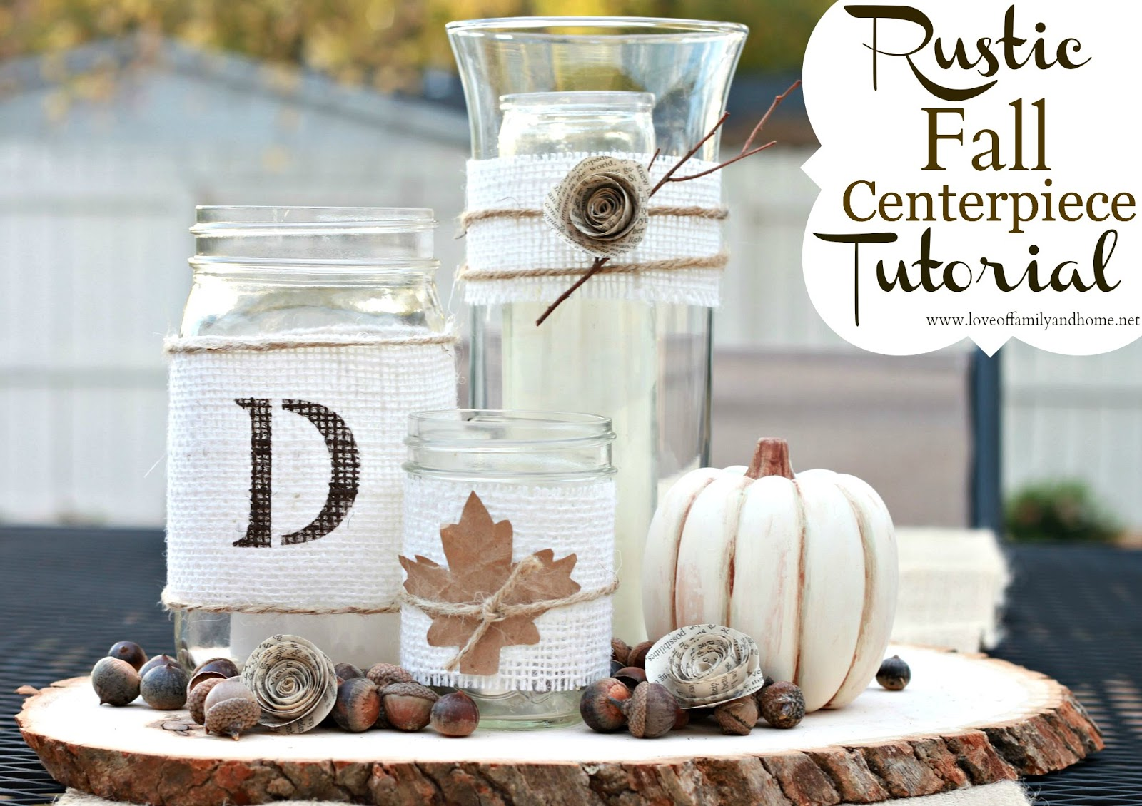 Ideas For Fall Wedding Centerpieces: Rustic Fall Centerpiece Tutorial