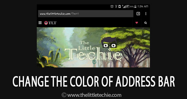 How to change the color of address bar in mobile browser to match your website