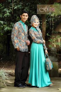 Gamis Bahan Sifon Kombinasi Batik