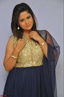 Shilpa Chakravarthy anchor and actress in anarkali dress  Exclusive 014.JPG