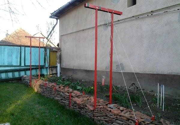 Broken Tiles Retaining Wall