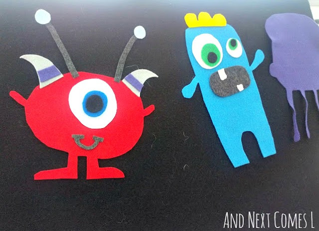 Adorable felt monsters that you can mix and match