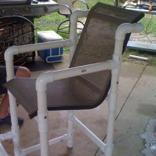 silla hecha con tubos de pvc