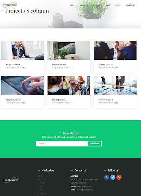 tema wordpress perusahaan