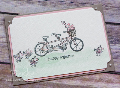 Tandem Wedding Card Made With the Pedal Pusher Stamp Set from Stampin' Up! UK