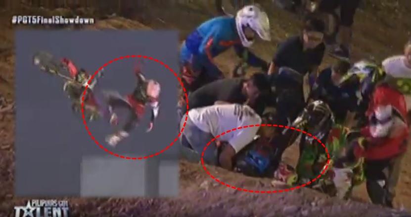 UA Mindanao suffers accident in failed PGT Finals stunt