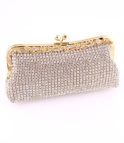 Luxury Vintage Crystal Bridal Hand Bags Evening Clutch Bag ...  Formal Gold Clutches