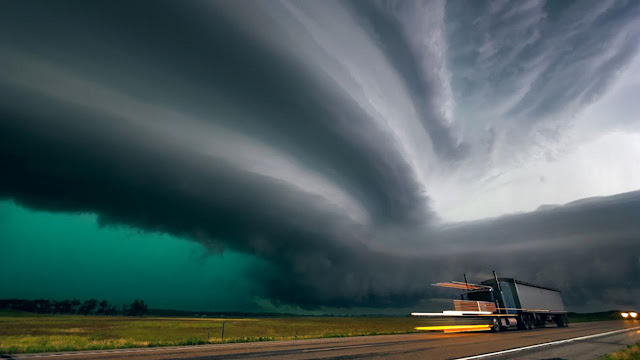 supercell tornadoes during storm season