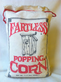 A bag of Fartless Popping Corn