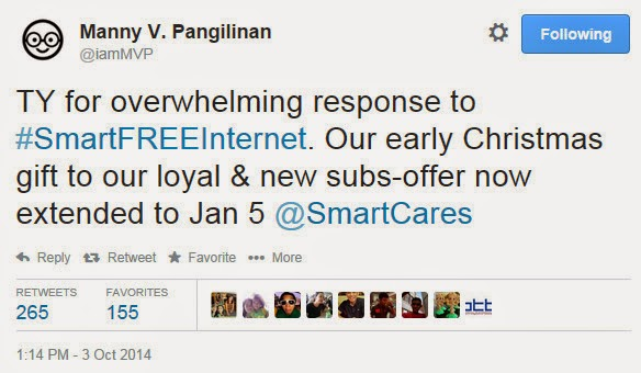 Smart Free Internet, Manny V Pangilinan