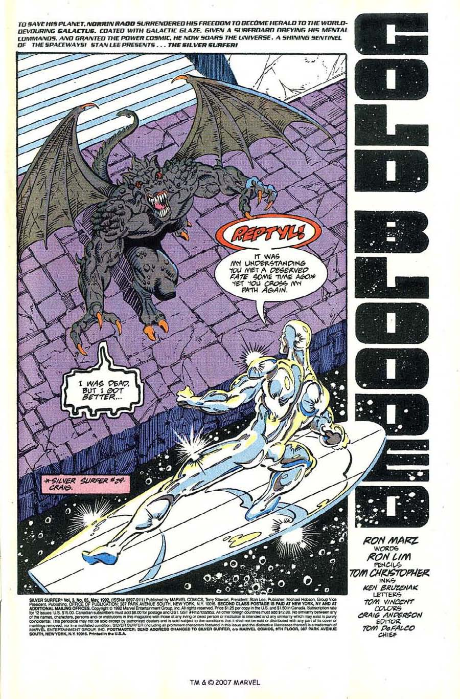 Read online Silver Surfer (1987) comic -  Issue #65 - 3