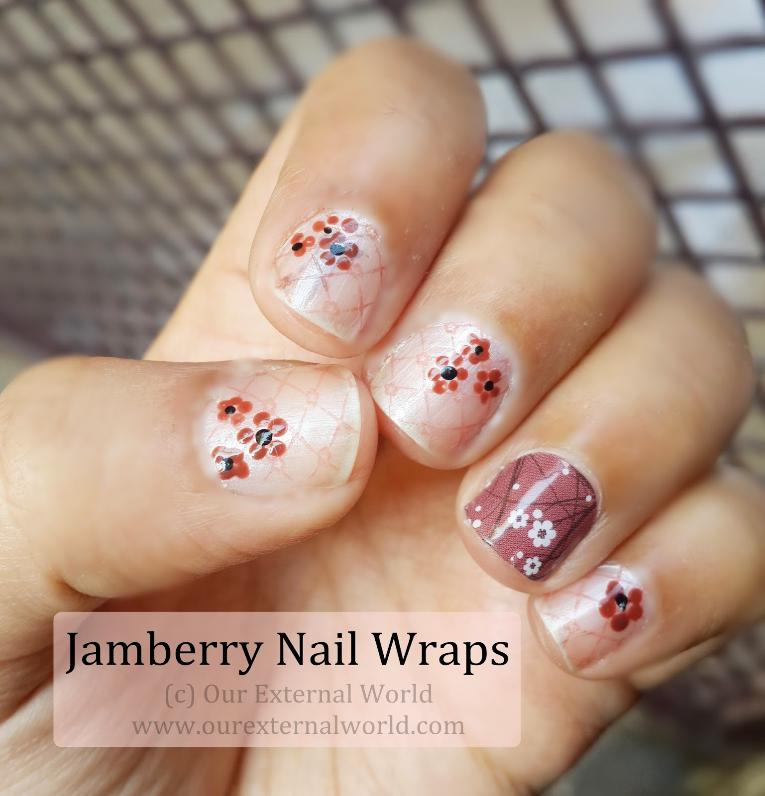 Jamberry Nail Wraps Marsala In Bloom Review & Tutorial