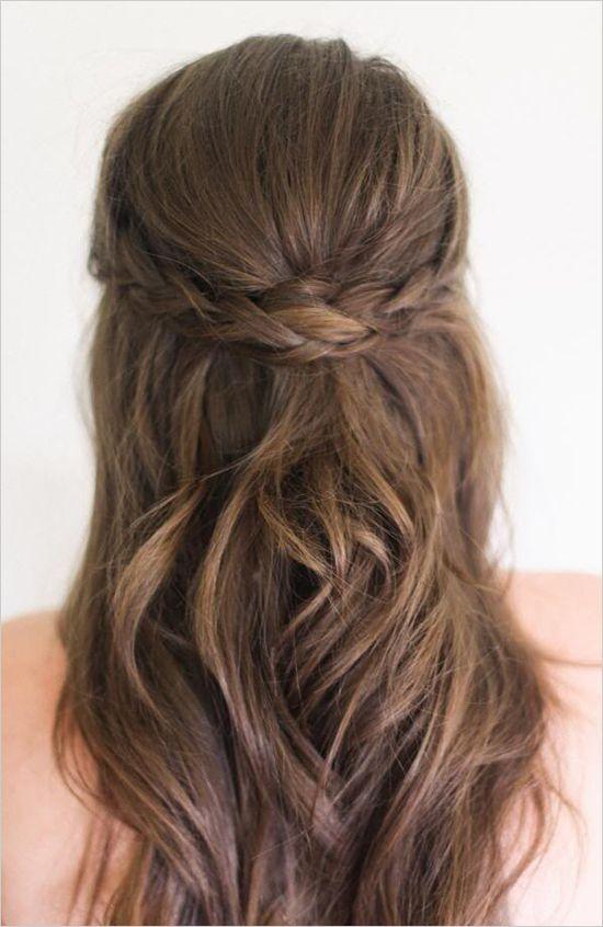 Chino Kaka Wedding Hairstyles For Medium Length Hair Half Up Half Down