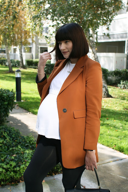 Fall, OOTD, Fashion, Fashion blogger, third trimester style, maternity, Zara,