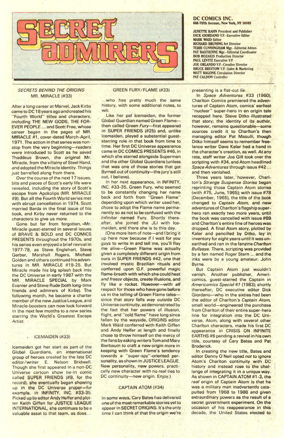 Read online Secret Origins (1986) comic -  Issue #34 - 33