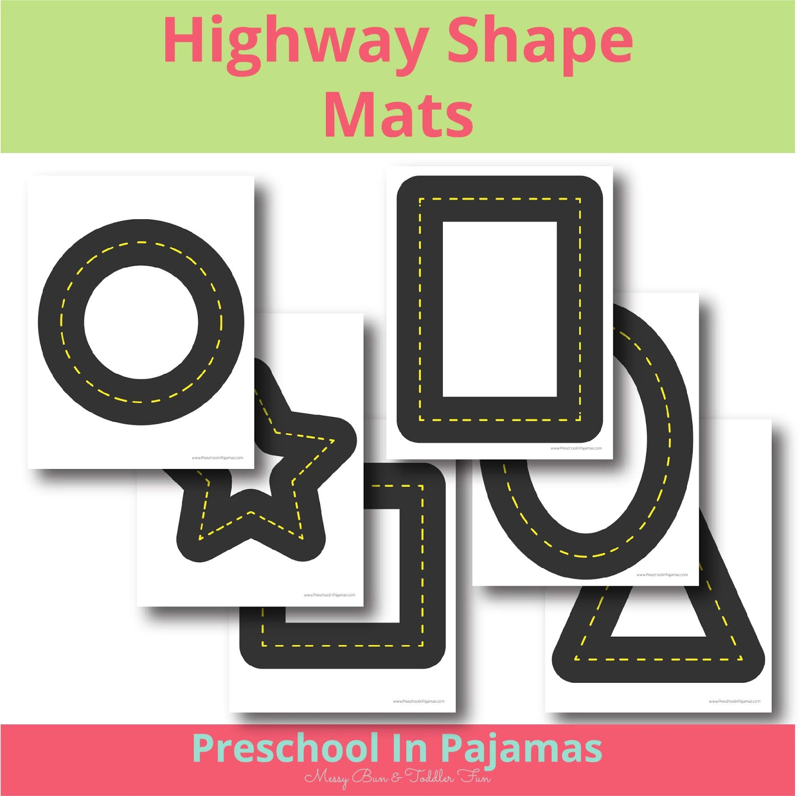 Free Highway Shape Printable Mat
