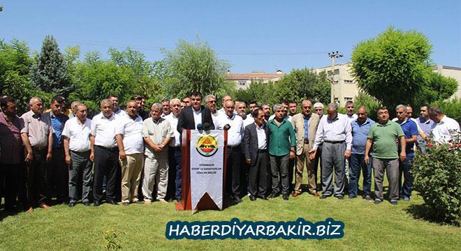 Diyarbakır Esnaf ve Sanatkârlar Odalar Birliğinden 15 Temmuz darbe girişimi açıklaması