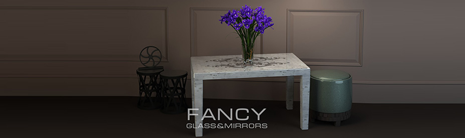 Rectangular mirrored dining table