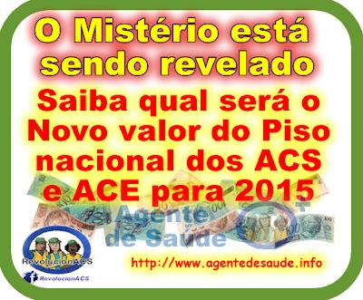 Saiba qual será o novo valor do Piso nacional dos ACS e ACE para 2015 1