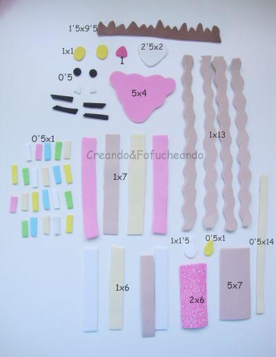 piezas-y-medidas-decoración-caja-porción-de-tarta-con-cartón-y-goma-eva