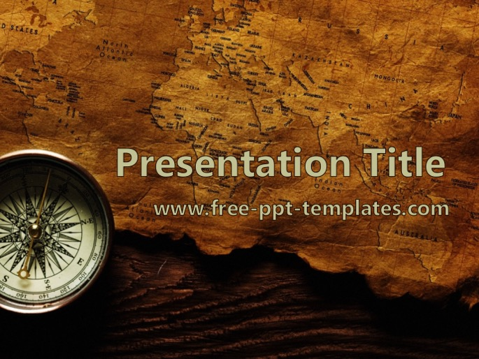 old map ppt template, Modern powerpoint