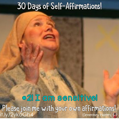 "30 Days of Self-Affirmations: Day 21: I am sensitive! For 30 days, I will be celebrating my own ""new year"" with self-affirmations. If you are interested in joining me, feel free to write your own affirmations here, or respond on my social media here: http://bit.ly/2JuKRWa See blog post here:  http://bit.ly/2JZeuQC"