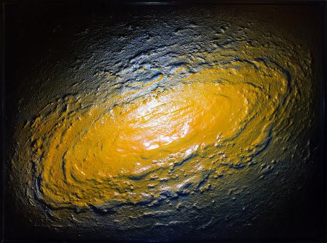 José Orús pintura abstracta amarilla
