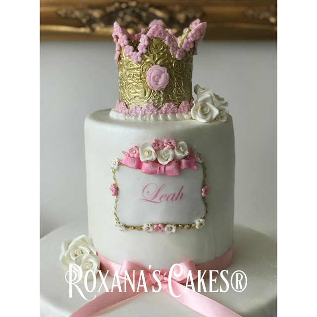 Baking with Roxanas Cakes 1st Birthday Cake Princess themed