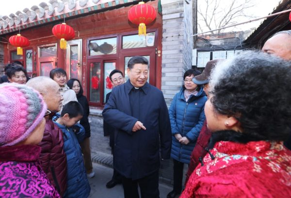 President Xi Jinping visits Hutong neighbourhoods of central Beijing to mark the Year of the Pig.