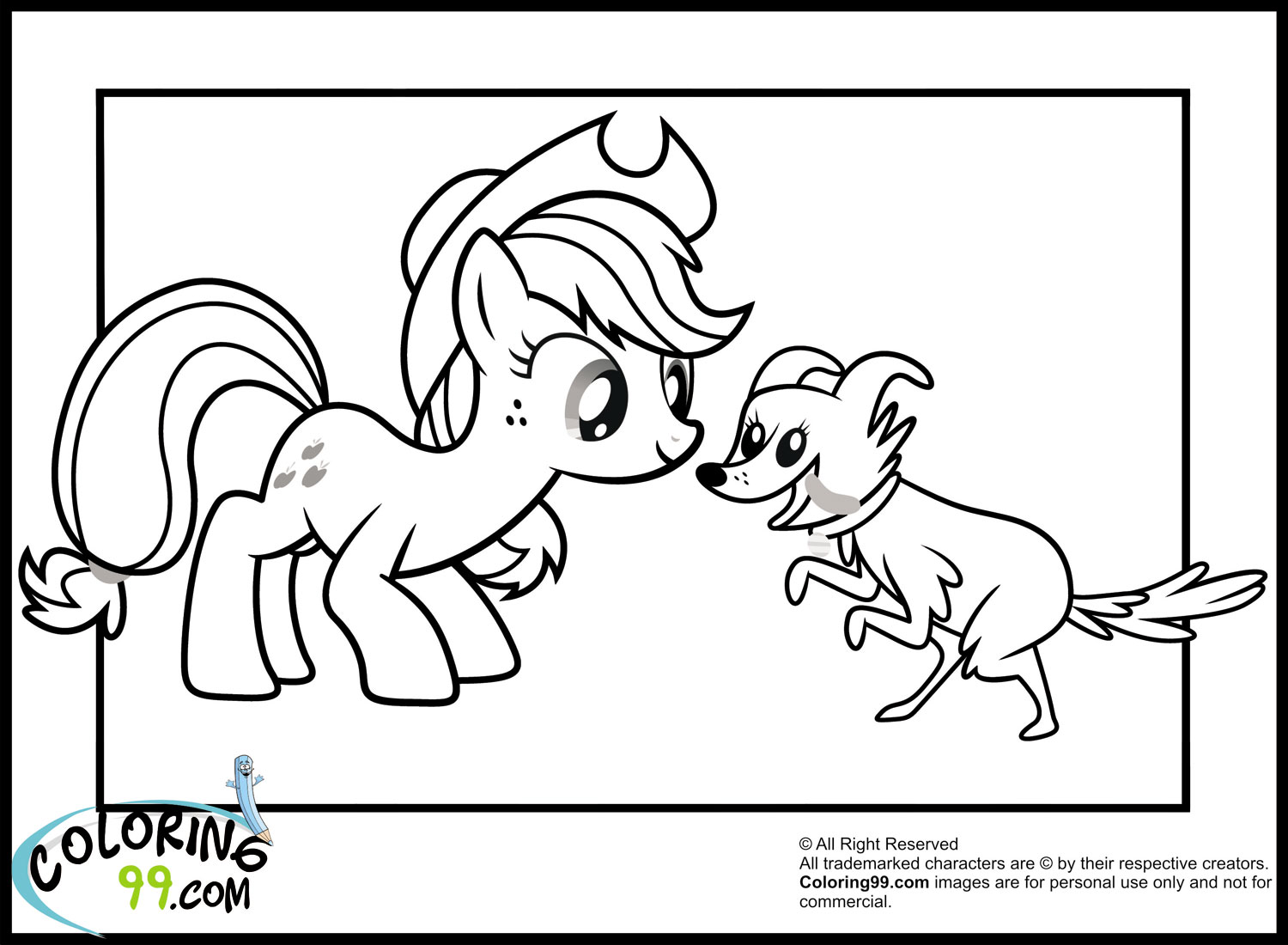 mlp coloring pages applejack - photo#30