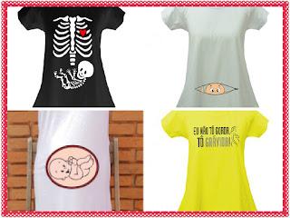 camisetas divertidas para grávidas