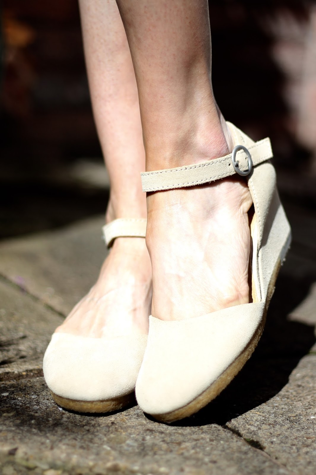 Clarks Originals Sand Suede Ankle Strap Wedge | Fake Fabulous