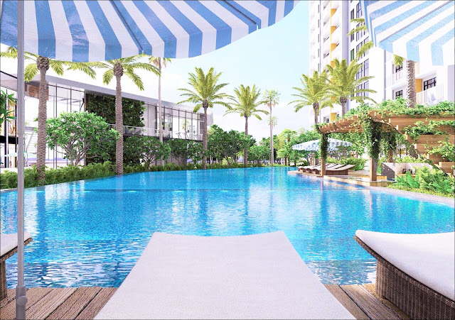 Swimming pool Jamila apartment Khang Dien development