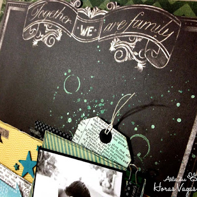 scrap scrapbook scrapbooking lo together we are family chalk studio ii my mind's eye father pai filho son