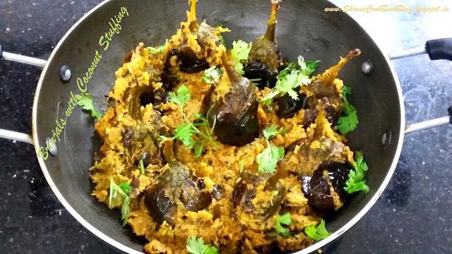 bharwa baingan masala - bharwa baingan with gravy