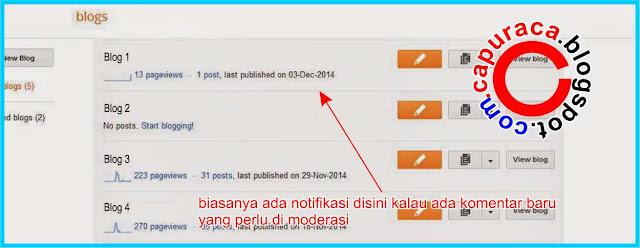 Cara mudah mengetahui ID Widget Blogger, dashboard blogger lama,