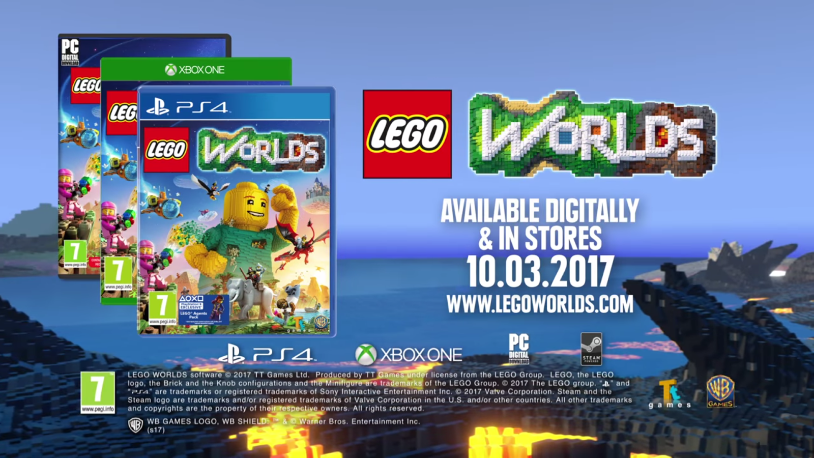 WARNER BROS  INTERACTIVE ENTERTAINMENT  TT GAMES AND THE LEGO GROUP     Interactive Entertainment  TT Games and The LEGO     Group today announced  that LEGO     Worlds  a galaxy of imaginative worlds made of digital LEGO      bricks where