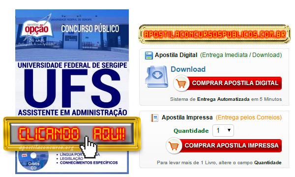 Apostila Concurso UFS 2017 PDF Assistente em Administração