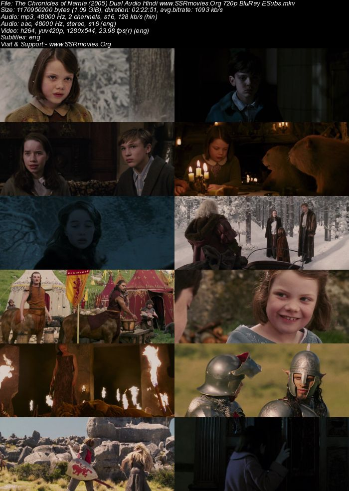 The Chronicles of Narnia (2005) Dual Audio Hindi 480p BluRay 450MB Full Movie Download