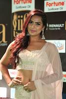 Prajna Actress in backless Cream Choli and transparent saree at IIFA Utsavam Awards 2017 0039.JPG