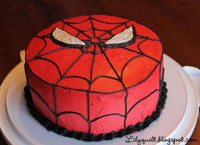 Lilyquilt Spider Man Birthday Cake Tutorial